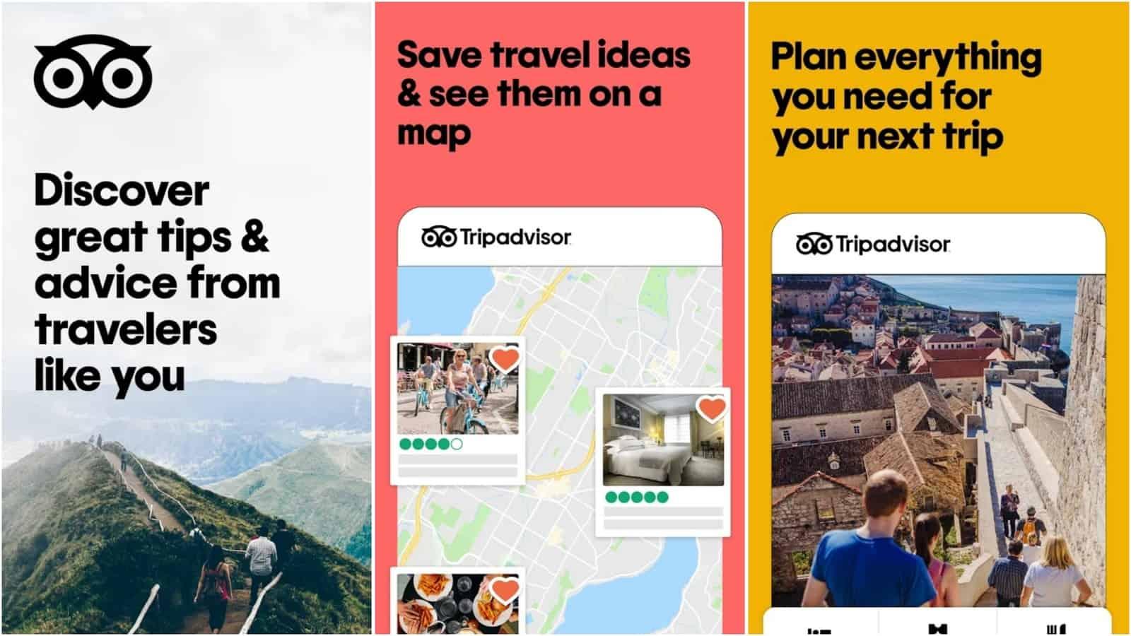 Tripadvisor app grid image