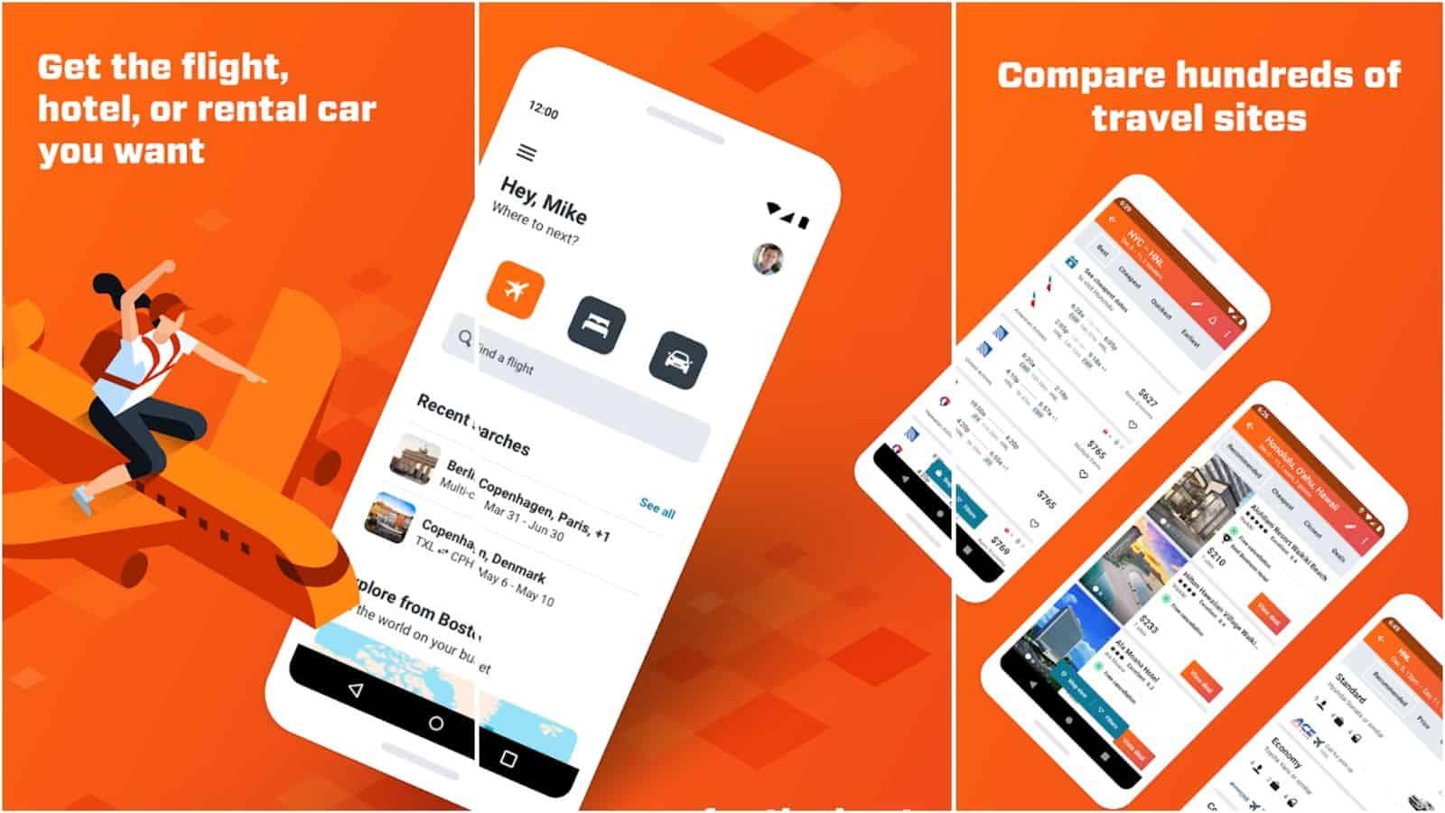 KAYAK app grid image