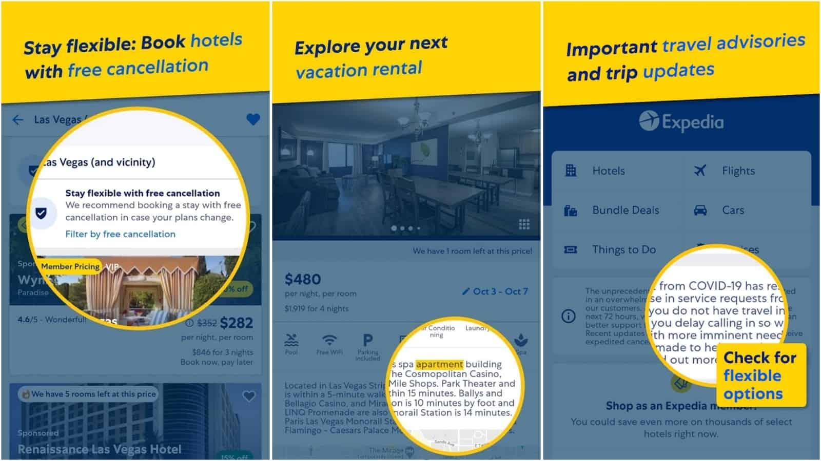 Expedia Hotels app grid image