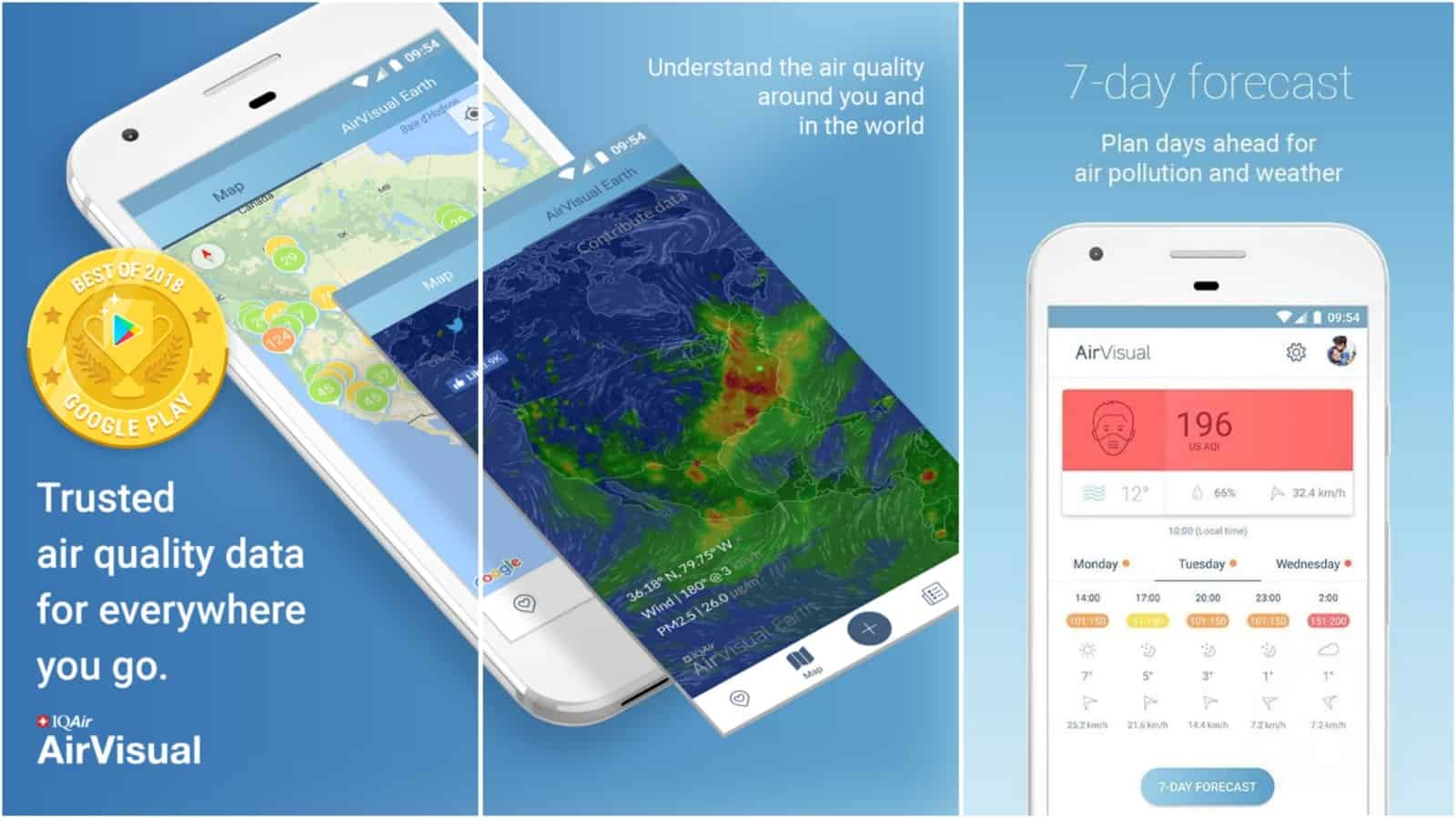 AirVisual app grid image
