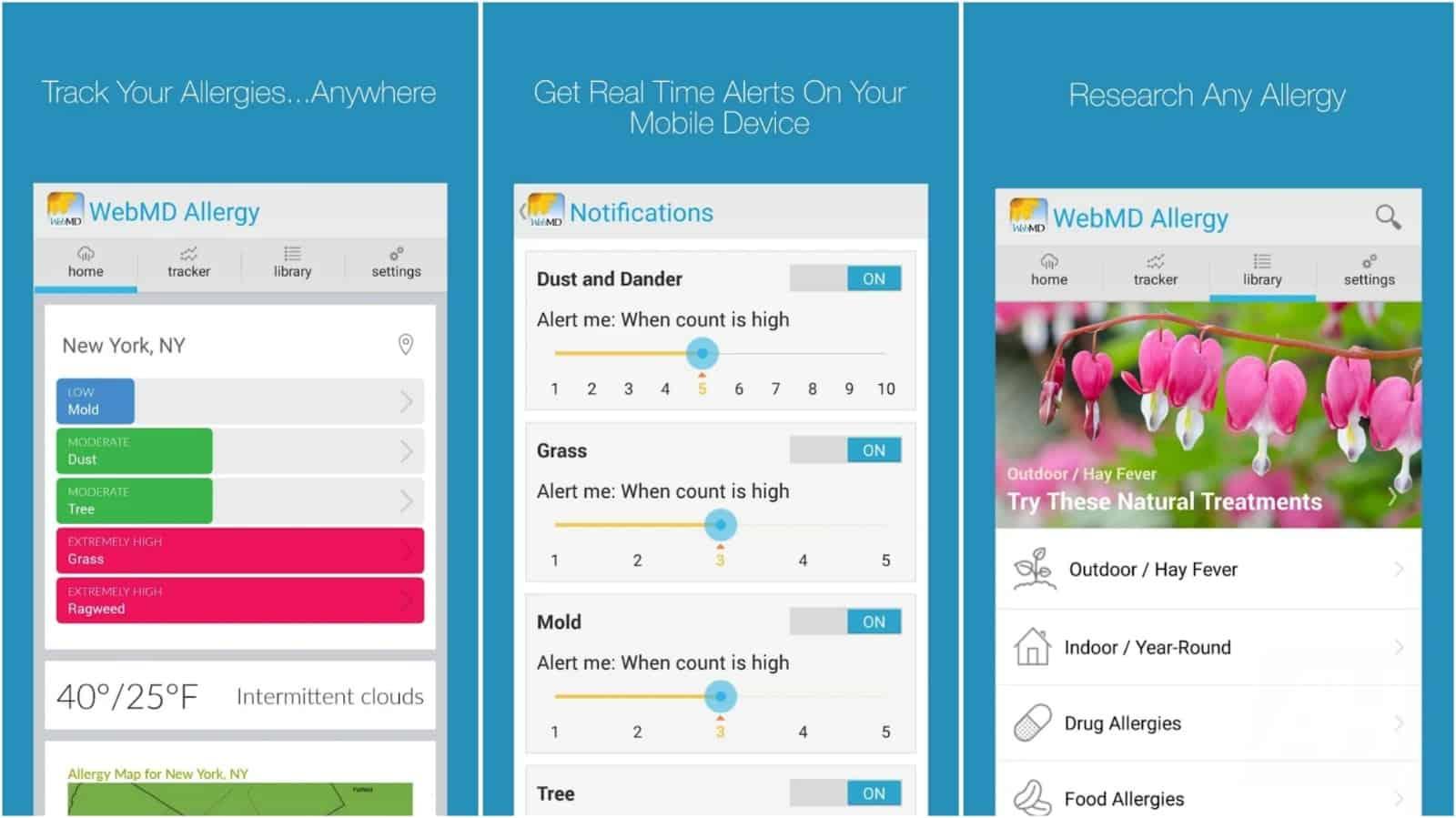 WebMD Allergy app grid image
