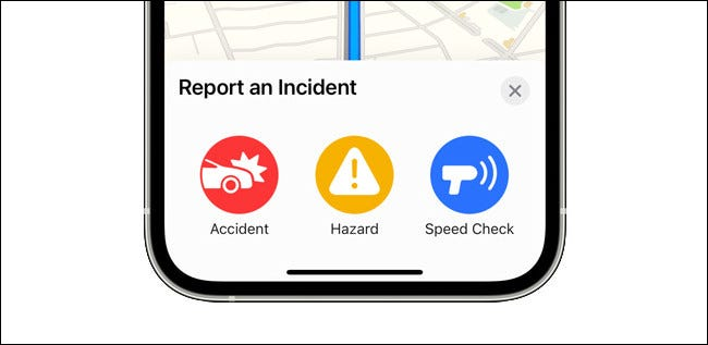 Reporting an Incident in Apple Maps