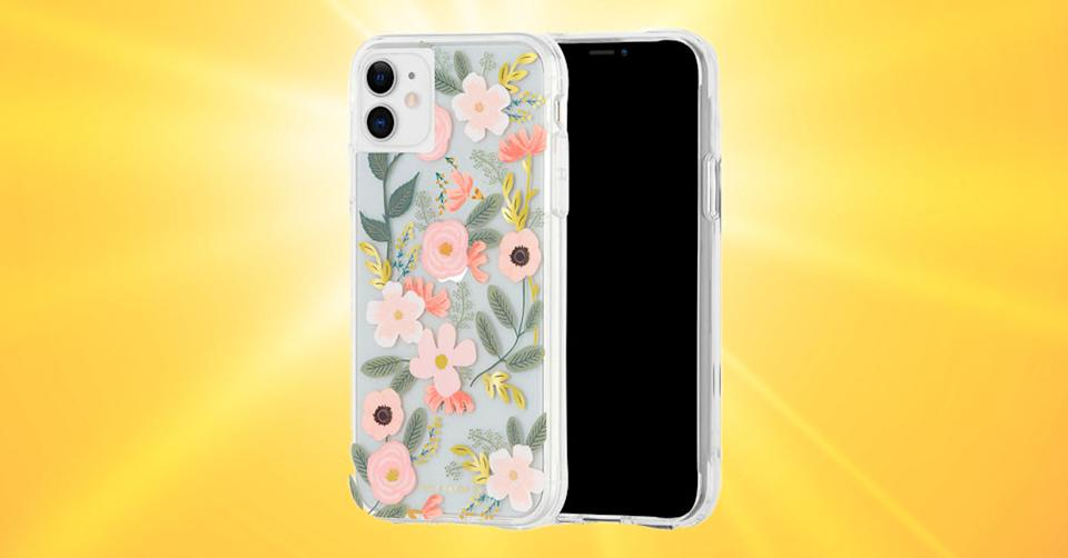 Case-Mate Rifle Paper Co. Eco Collection Case for iPhone 11 - Clear Wildflowers (Photo: Verizon Wireless/Getty)