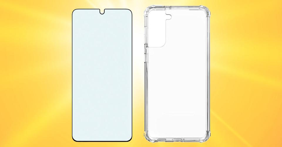 Verizon Clarity Case & Blue Light Screen Protector Bundle for Galaxy S21+ 5G (Photo: Verizon Wireless/Getty)