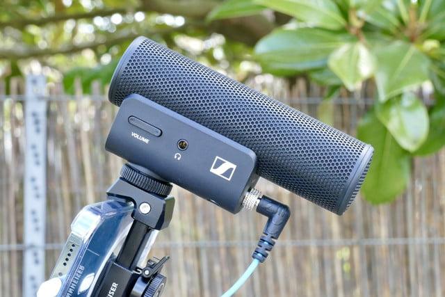 sennheiser mke 400 mobile kit review mke400 mic side