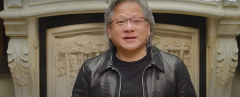 Jensen Huang, CEO of Nvidia, at GTC 21.