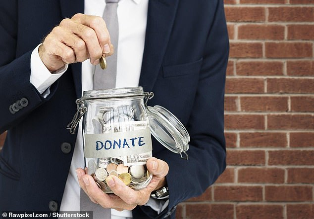 Reminding potential donors that giving to charity benefits the person making the donation is the best way to encourage generosity, according to researchers from the US and Australia (stock image)
