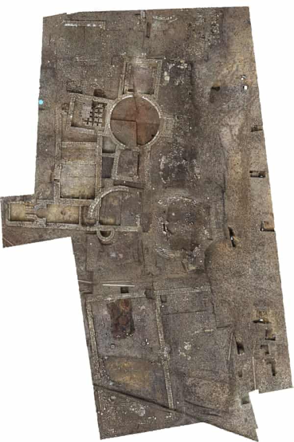 An image showing the extent of the remains uncovered