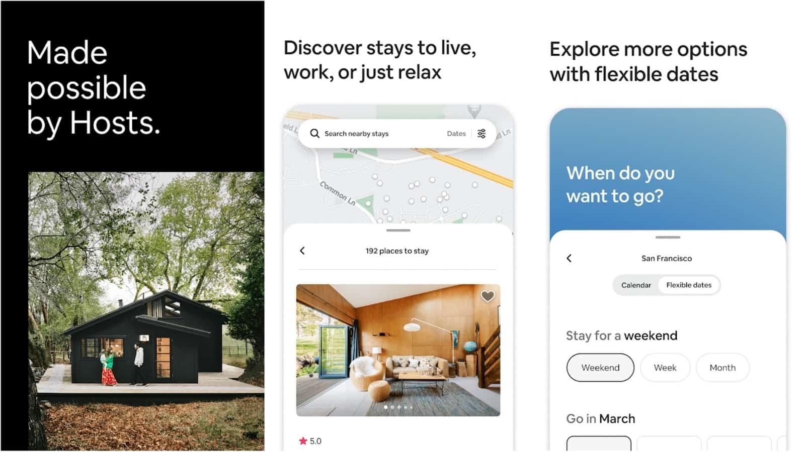 Airbnb app grid image