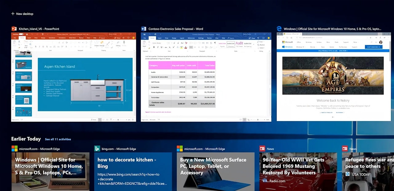 Windows Timeline support