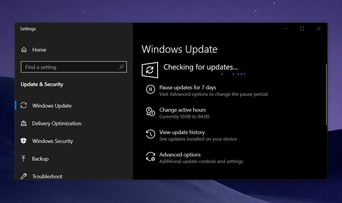 KB5001337 update