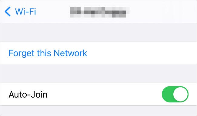 Forget This Network on iPhone