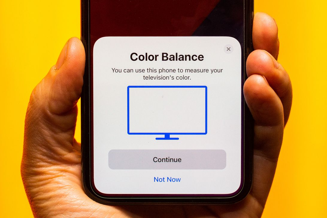 Apple TV screen color balance calibration