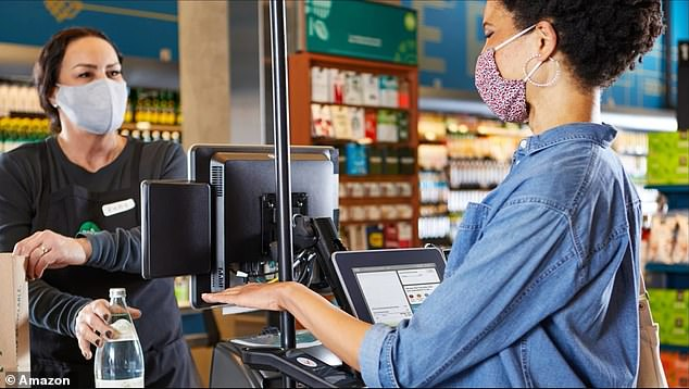 In addition to adding convenience, the palm scanner limits the transmission of bacteria and germs between customers and cashiers