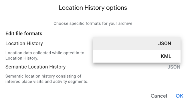 Select a different file format