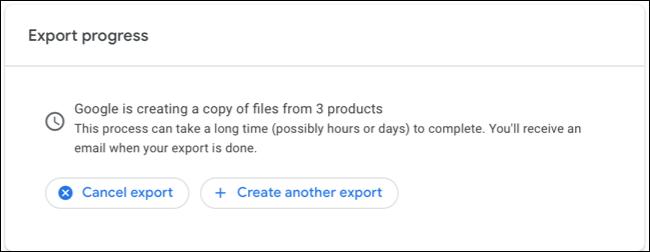 Google Maps Data Export Progress