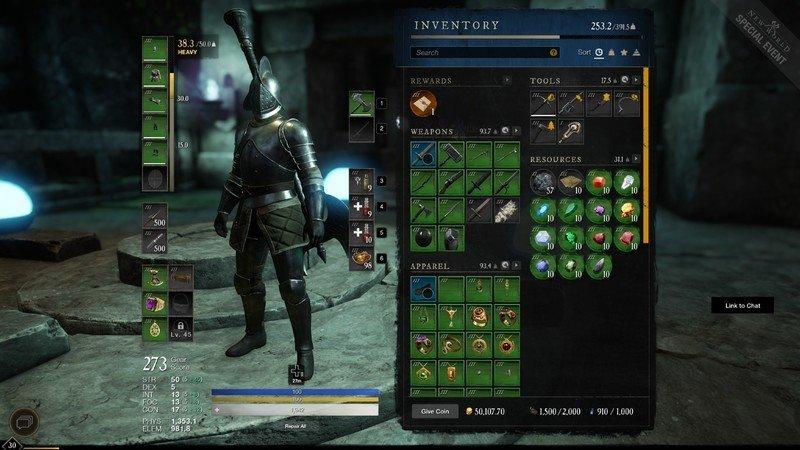 New World Inventory Screen