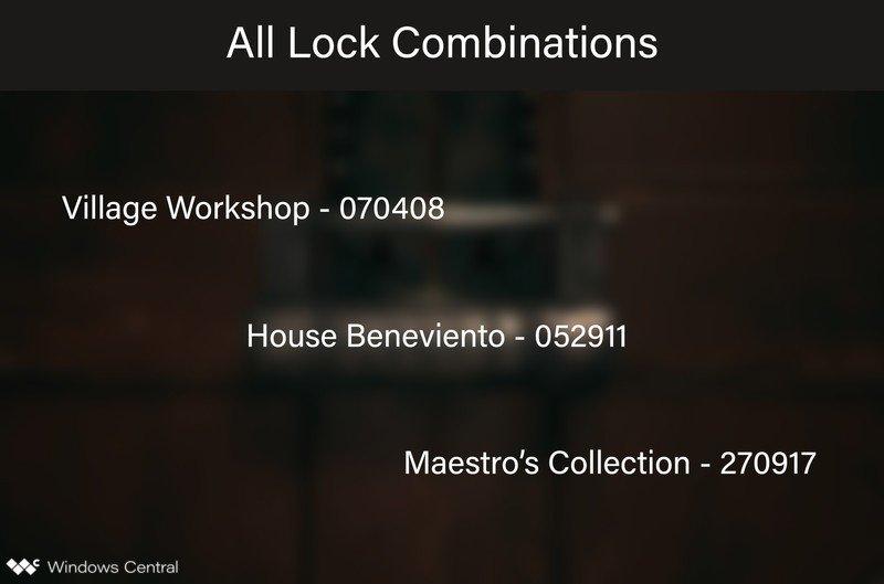 Resident Evil Village All Lock Combinations