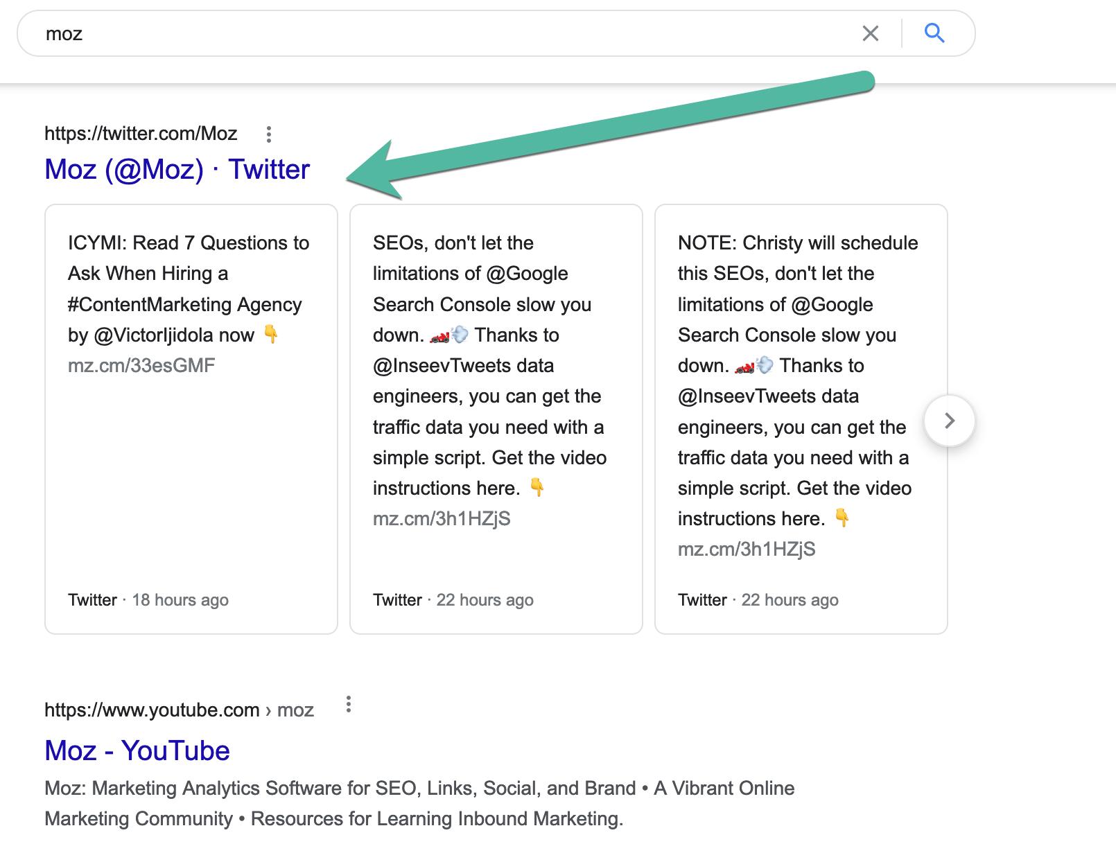 tweets in Google