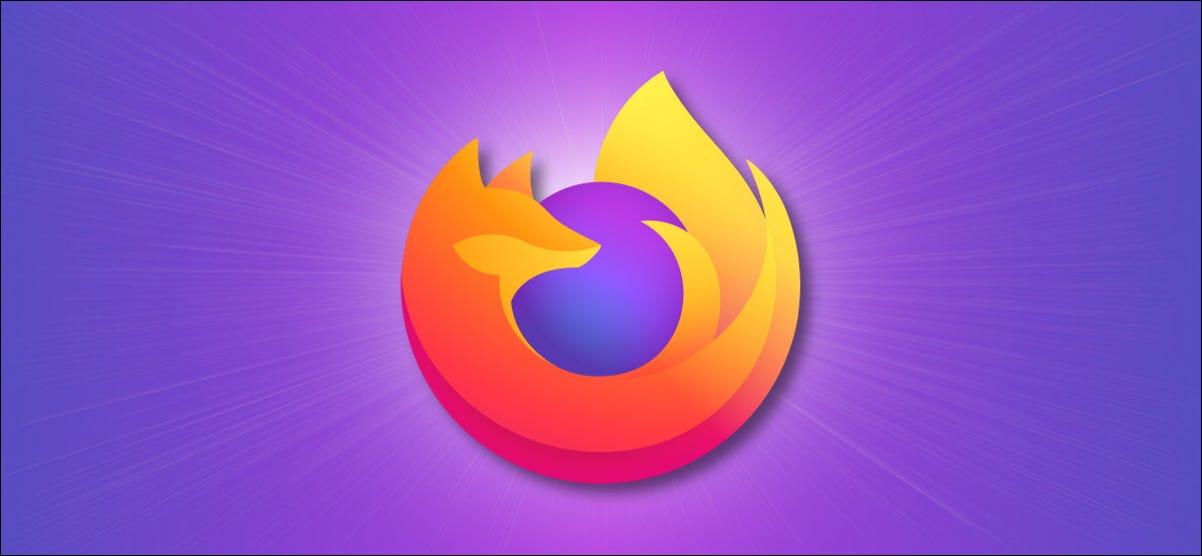 Firefox Logo on Purple Background.