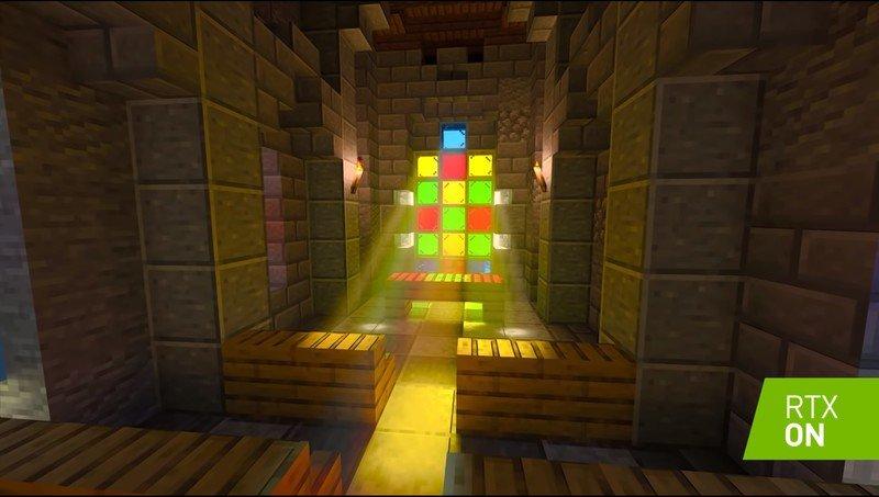 Minecraft NVIDIA ray tracing