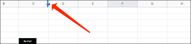 Adjust the column size in Google Sheets.