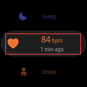 select heart rate
