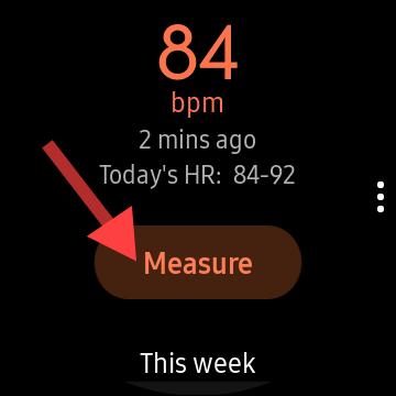 tap the measure button