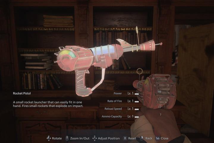 Ray Gun as Rocket Pistol Resident Evil Village Mod