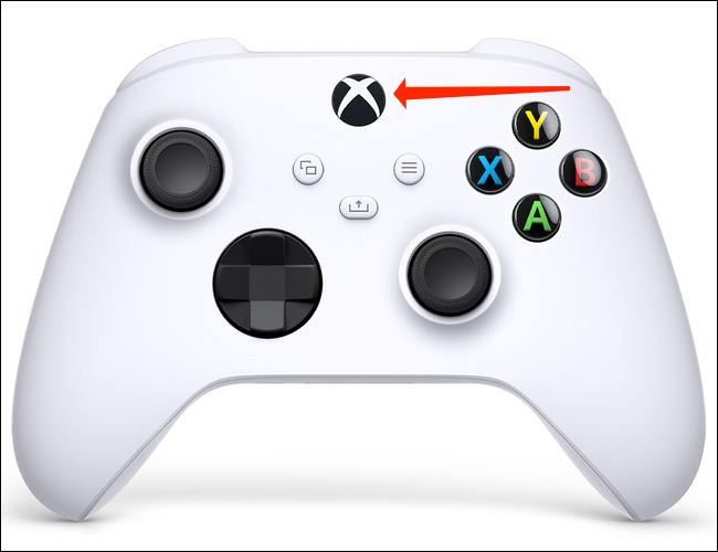 Tap and hold the Xbox logo button for six seconds to switch off the Xbox Wireless Controller when it's paired with Bluetooth