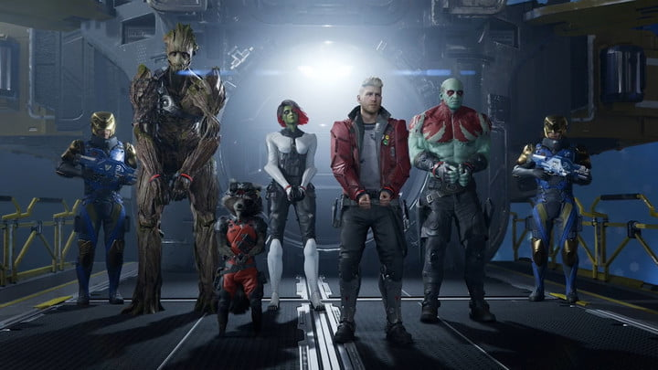 The full cast of Marvel's Guardians of the Galaxy.