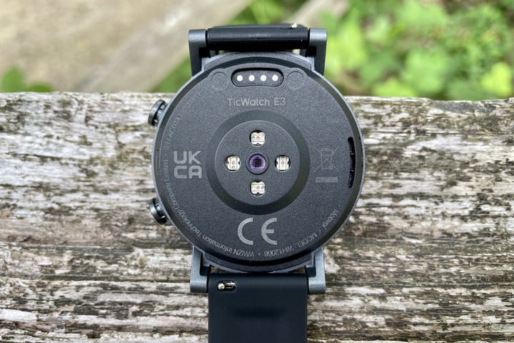 The back of the TicWatch E3