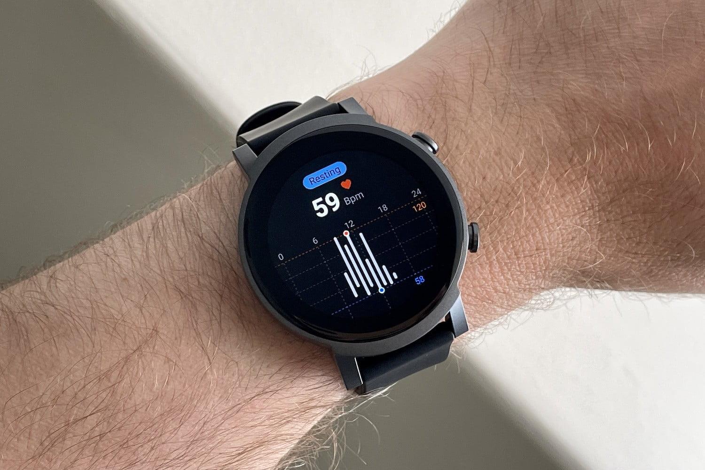 Heart rate sensor on the TicWatch E3