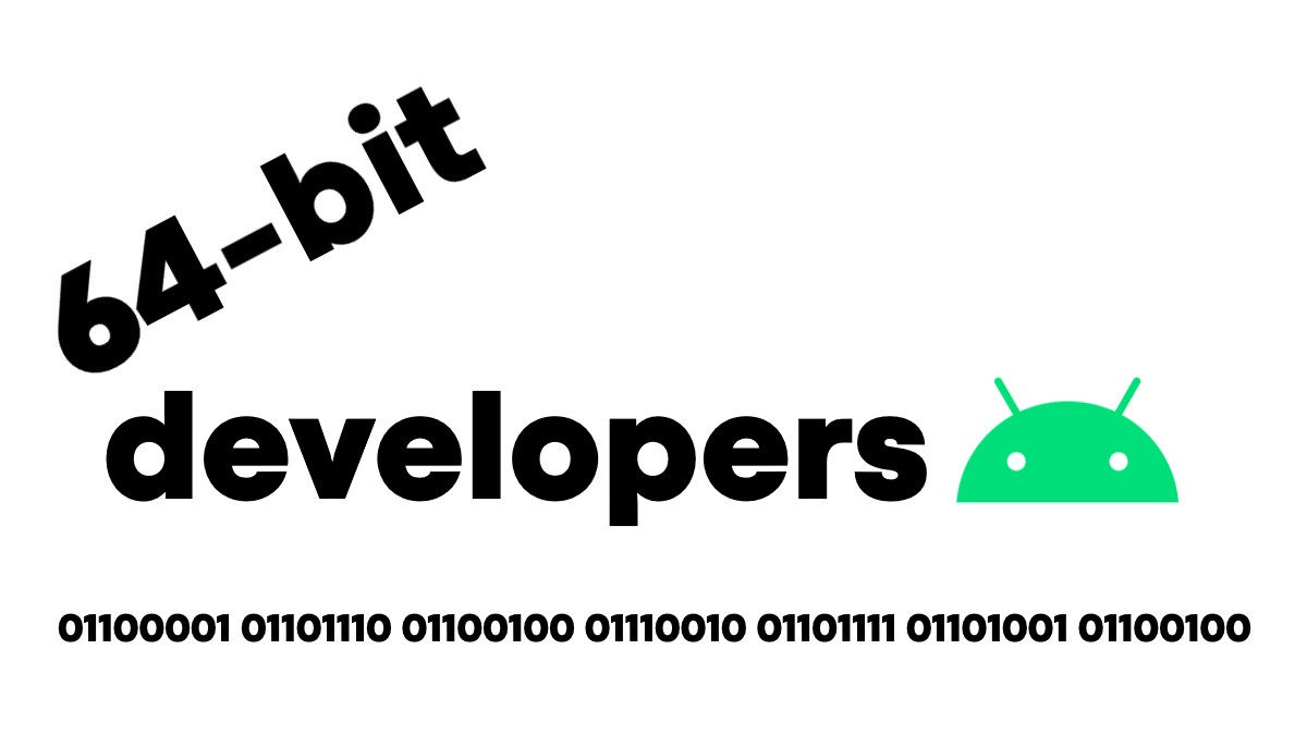 64 bit android developers logo