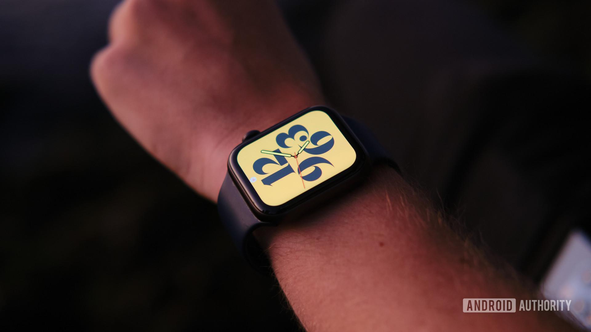 Apple Watch series 6 on arm 3