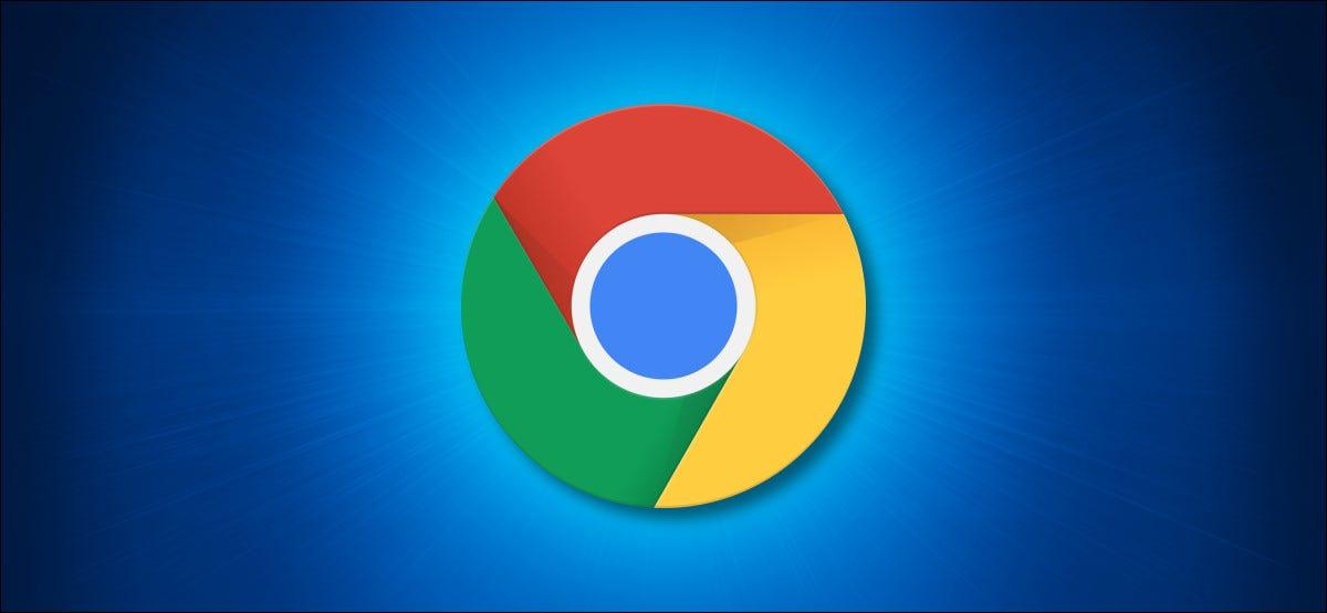 Google Chrome Logo on a Blue Background