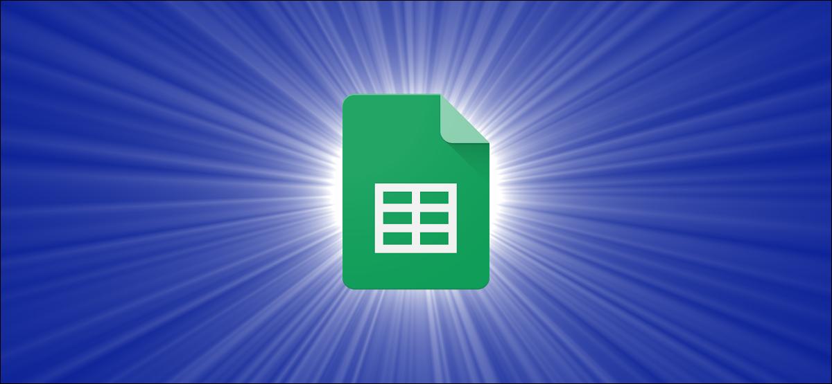 Google Sheets logo against a blue gradient background.