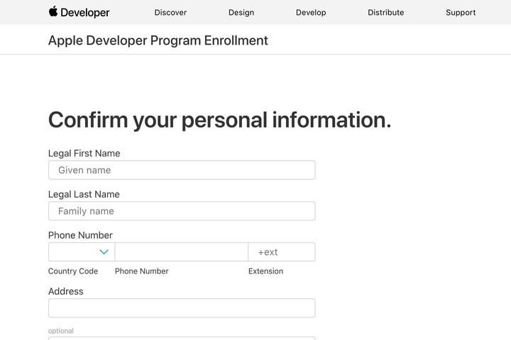 Apply to Apple Developer Program