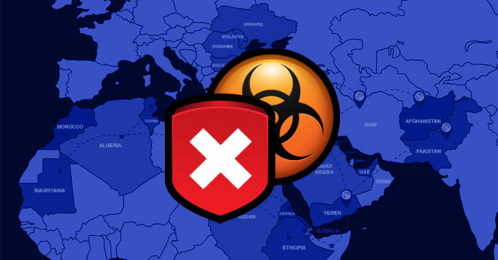 Middle East malware attack