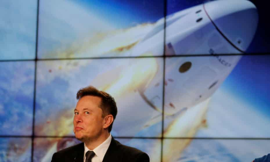 Elon Musk at the Kennedy Space Center in January 2020. 'Musk is totally about Mars.'