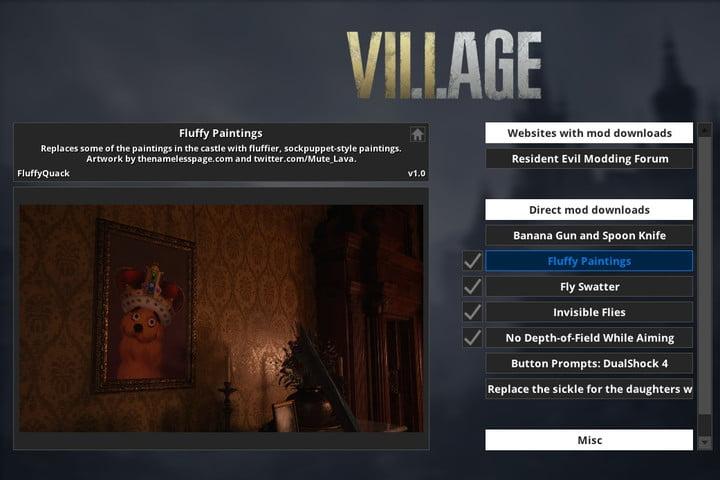 Resident Evil Village Fluffy Manager Mod