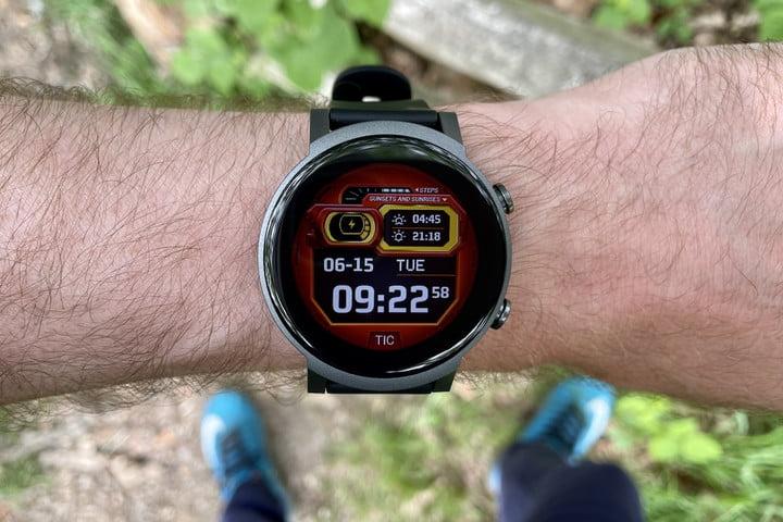 Mobvoi TicWatch E3 on the wrist