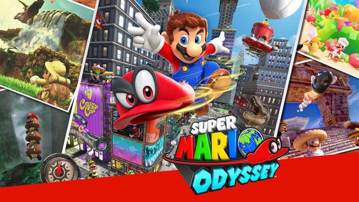 Super Mario Odyssey cover art.