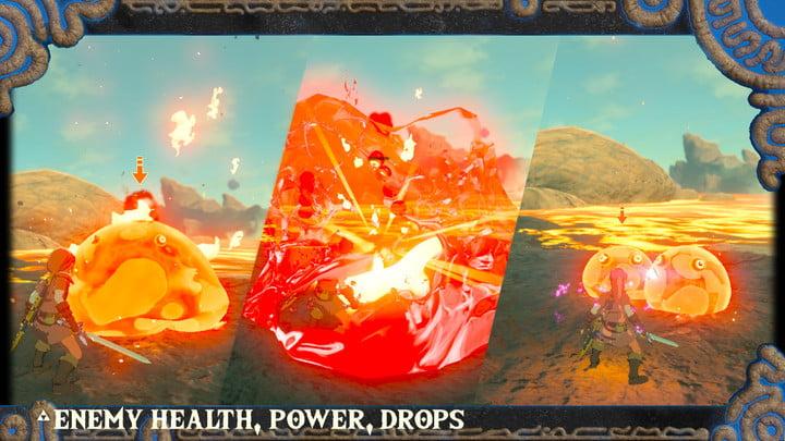 Enemy rebalances in Hyrule Rebalance mod.