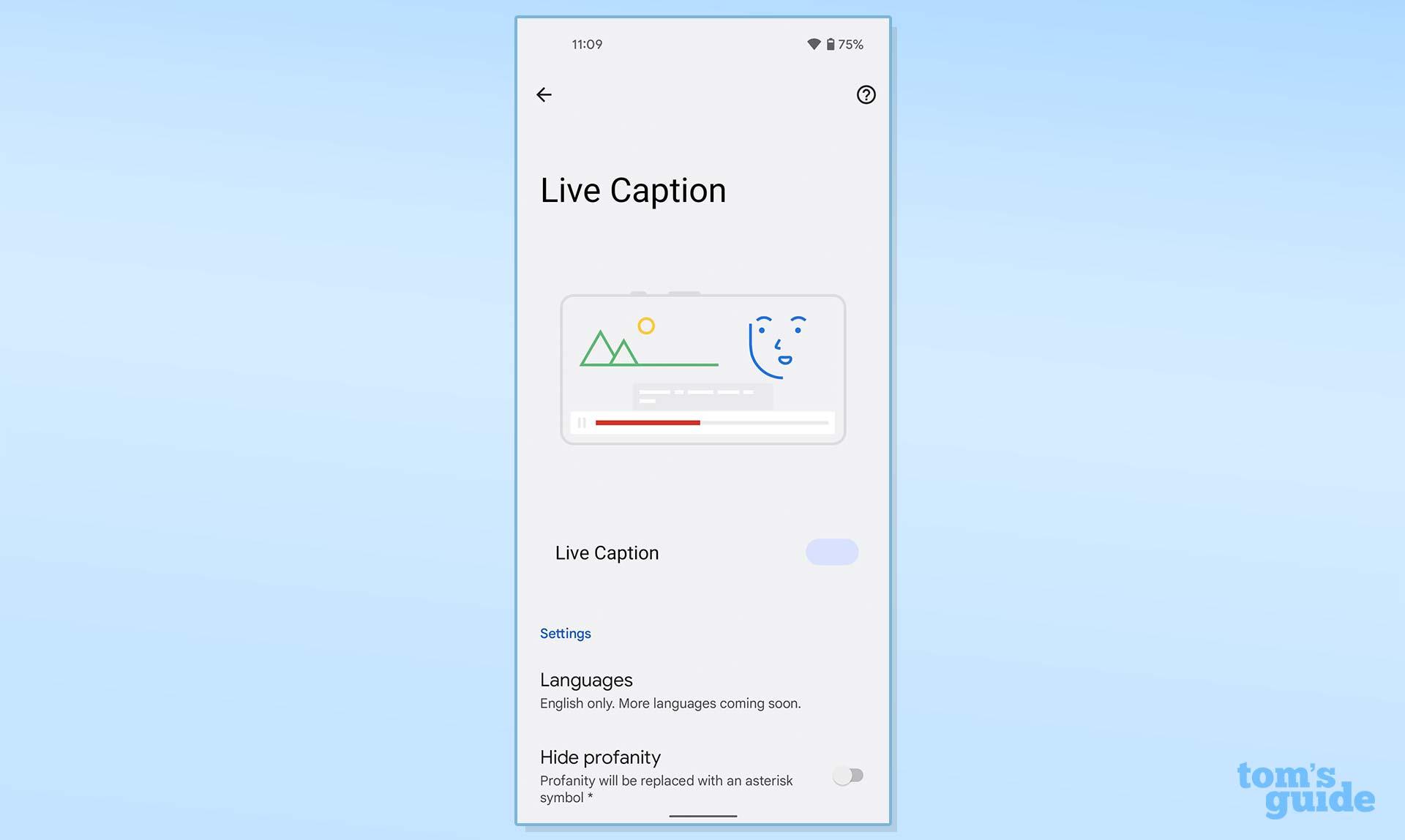 pixel live caption