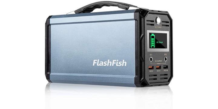 FF Flashfish 300W Solar Generator on a white background.