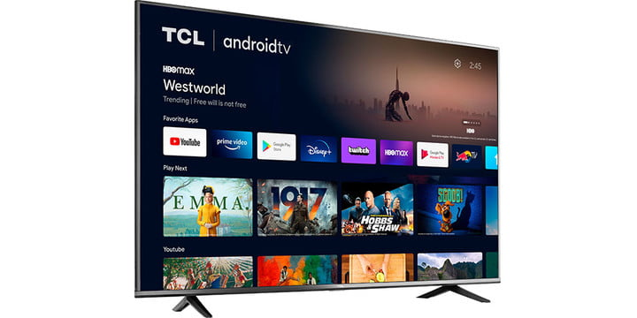 TCL 50-inch 4K TV on a white background.