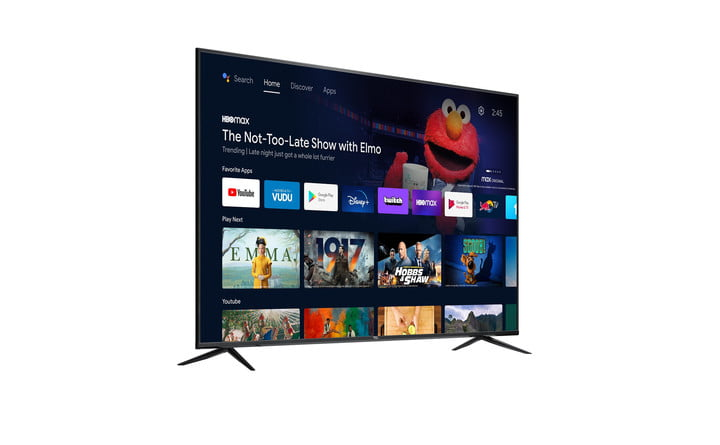 The 70-inch TCL 70S430 4K TV, with several streaming services, shows, and movies displayed on the screen.