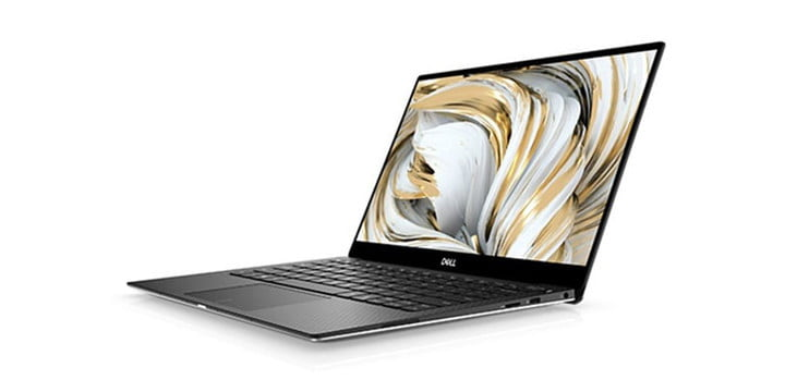 Dell XPS 13 on a white background.