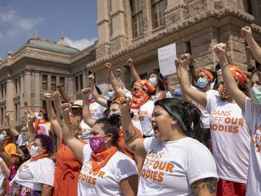 Women protested earlier this month at the state capital in Austin against a new law considered the nation's most restrictive on abortion rights.
